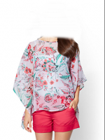 2018 flower design blouses and top