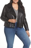 black  leather  women jacket
