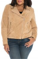 notch-collar  women  leather jacket