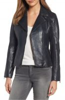 decent  black   women  leather jacket