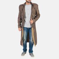 versatile leather long coat