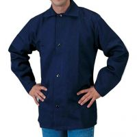 Navy Blue Cotton Welding Jacket,
