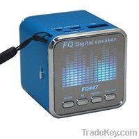 Mini Card Speaker with FM radio, USB and LED flashlight