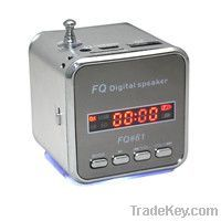 Mini Cube USB Speaker with FM radio, Micro SD Card