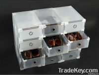 Clear storage shoe boxes shoe drawers organizer