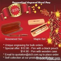 DC9    Singapore personalized engraved wood pens