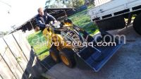 Chinese MATTSON ML526 mini tracked skid steer loader with mini trencher