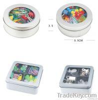 Thumbtack/Paperclip/binder clip Tin pack set