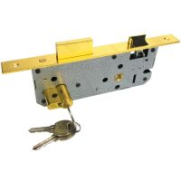 LOCK BODY FOR WOODEN DOORS / LOCK BODY 60 MM CYLINDER SS AND BRASS FINISH / LOCK BODY 70 MM CYLINDER (ROCK) BRASS PLATED