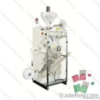Paper tea bags packing machine with thread and tag