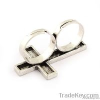 Archaize Fashion Double Finger Rings, double ring