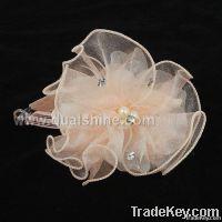Fashion Simple Design China Silk Bowknot hairpin