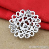 Hearts Flower Alloy Brooches