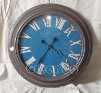 Metal antique round analog clock