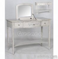 Wooden dressing table with mirror set