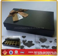 black handmade gift box for chocolate