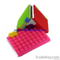 2012 Hot-Selling Mini Silicone Notebook Cover in A6 Size