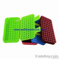 2012 Latest and Hottest Block Design Silicone Case for iPhone
