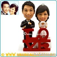 PERSONALIZED 3D LOVELY WEDDING CAKE TOPPER FIGURINES