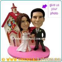 CUSTOM 3D WEDDING COUPLE CAKE TOPPER FIGURINES