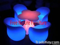 Hot Sale LED Table and Chair Furniture