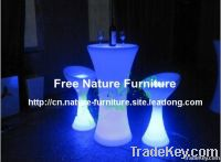 Color Changing LED Bar Table and Stool