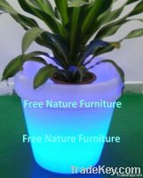 LED Illuminated Flower Pots