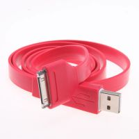 1M Flat Noodle Sync Data Cable USB Cord Charger 30P