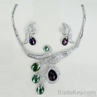 Fashion crystal jewelry set