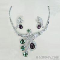 Fashion crystal jewelry set