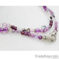 fashion glass beaded necklace