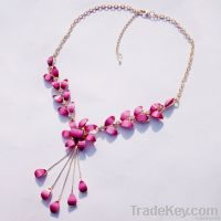 New fashion Colorful resin Alloy Pendant Necklace Jewerly sets