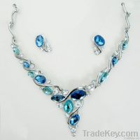 Fashion crystal and gemstone jewelry set