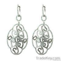 Diamond Dangle Earrings Jewelry