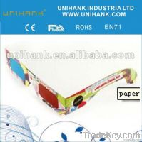 promotional hot selling paper 3D video glasses for home theater, movie,