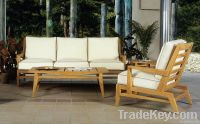 3pcs teak wood sofa set