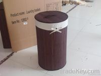 Foldable bamboo laundry hamper
