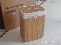 Square foldable laundry basket