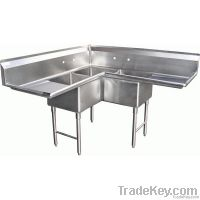 Commercial one compartment Sinks