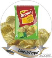Crinkled Cassava Chips - Lime & Pepper