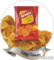 Crinkled Cassava Chips - Tangy Tomato