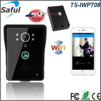 Tempered glass doorbell stable loud calling wireless remote unlock wifi video door phone intercom system