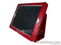 Ipad2 and New iPad Cover leather folio kickstand hard case