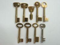 brass bit key blank