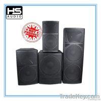 Wooden pro audio speaker cabinet
