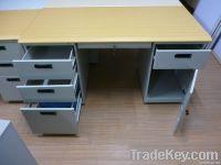 Steel office computer desk