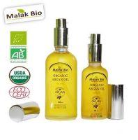 Froasted Silver Bottle Of Organic Argan Oil 50 ml & 100ml
