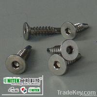 SS304 socket flat head self drilling screw