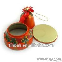 Christmas sock tin can, christmas promotional tin case, metal xmas box