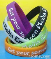 Fashion 100% Silicone Wristband Rubber bands